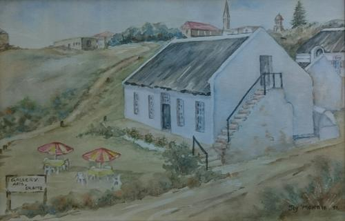 Watercolours  Original water colour painting by Joy Morris was listed for R9 # Wasbak Frame_071949