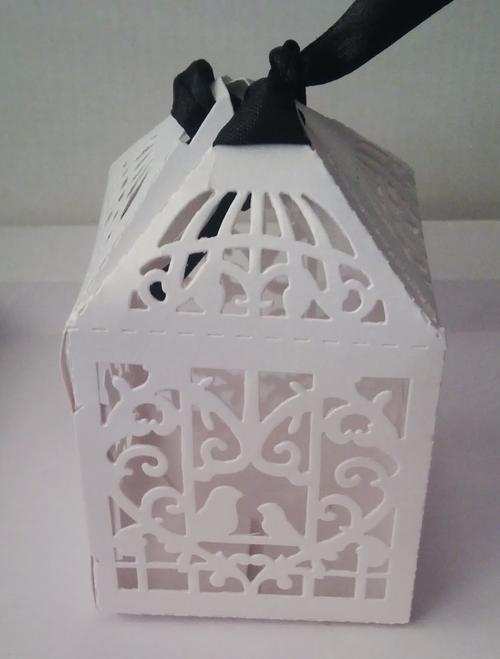 Wedding Gift Boxes Cape Town : Other Wedding SuppliesLaser Cut Bird Cage Wedding Favour Box was ...