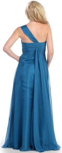 Formal Dresses - Plus Size Chiffon Evening Dress. In Stock In Teal Blue (size 3XL). FREE And ...