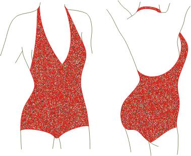 vintage BIKINI SWIMSUIT MAILLOT STRETCH AND SEW PATTERN ALL SIZES