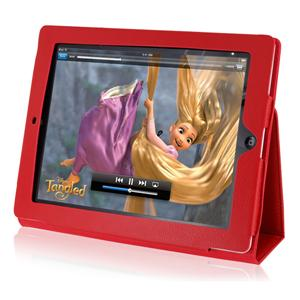 808 Leather Folding Case Cover Pouch for Apple iPad2 (Red)