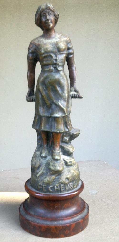 metal 1892 1915 foundry marked french spelter
