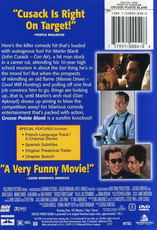 DVD ZONE 1 - GROSSE POINTE BLANK
