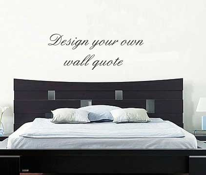 Wall Decals Design your own wall quote sticker decal