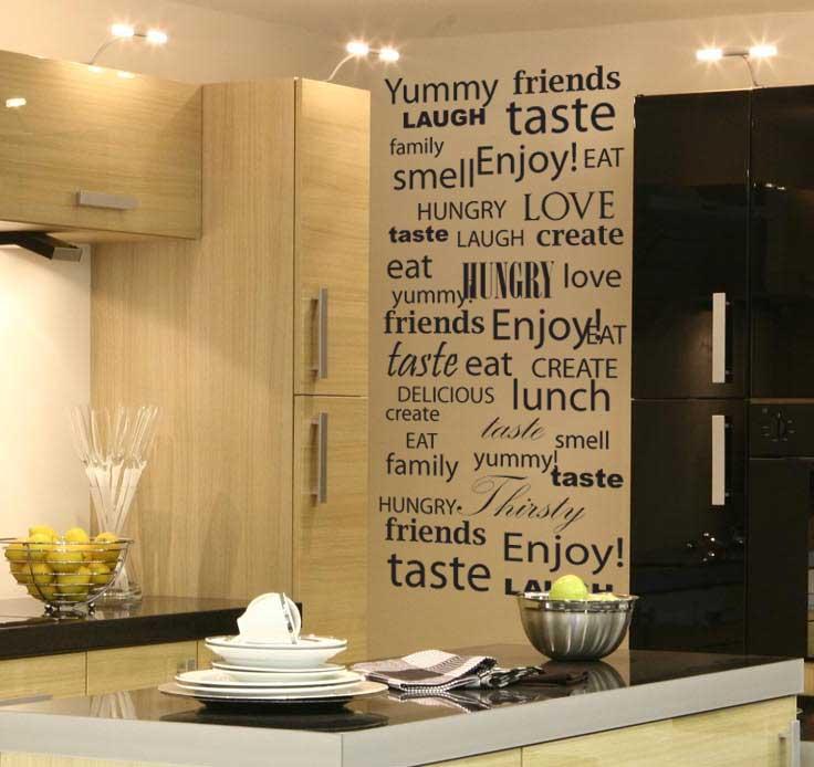 Wall Decals Kitchen interior decor Wall Art Sticker