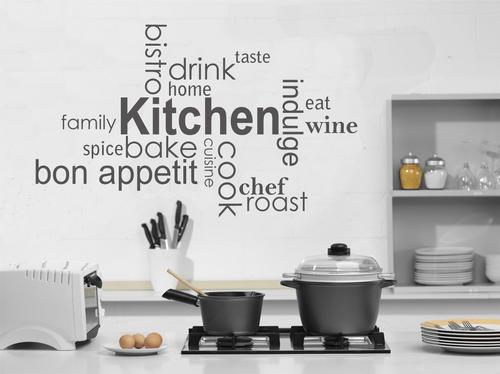My Kitchen Wall Decor : Wall decals tasty kitchen vinyl art words decal