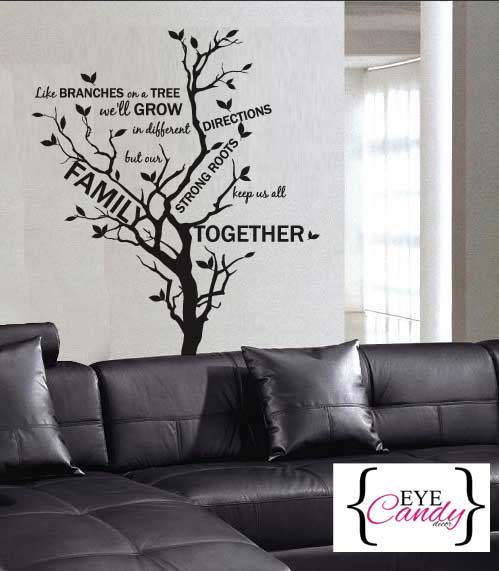 Family Branches Wall Quote Vinyl Sticker Decal Wall Art Interior Design  Check Out My Other Designs With Interior Design Wall Art.