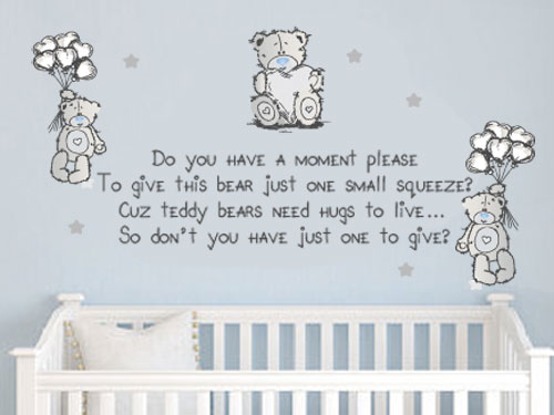 wall decals tatty teddy cute wall quote vinyl decal 17 best images about boeta se kamer on pinterest baby