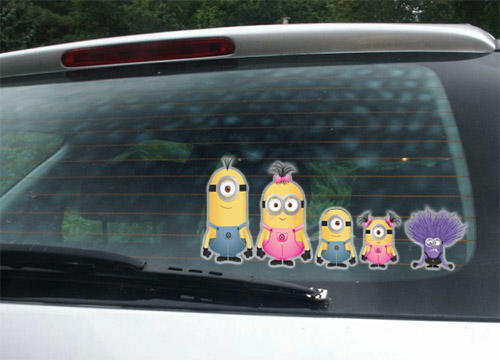 Wall Decals Funny Minions Stick Family Car Window Funny