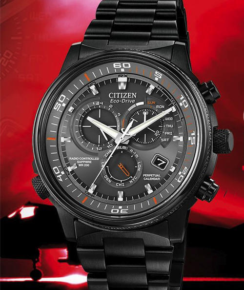 Mens Watches Brand New Citizen Eco Drive Nighthawk A T Perpetual