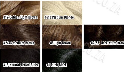 SYNTHETIC HAIR FRINGE COLOUR CHART GLAMORHAIR