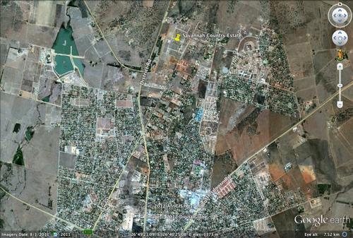 Google Earth image of stands location in Klerksdorp (within city boundaries)