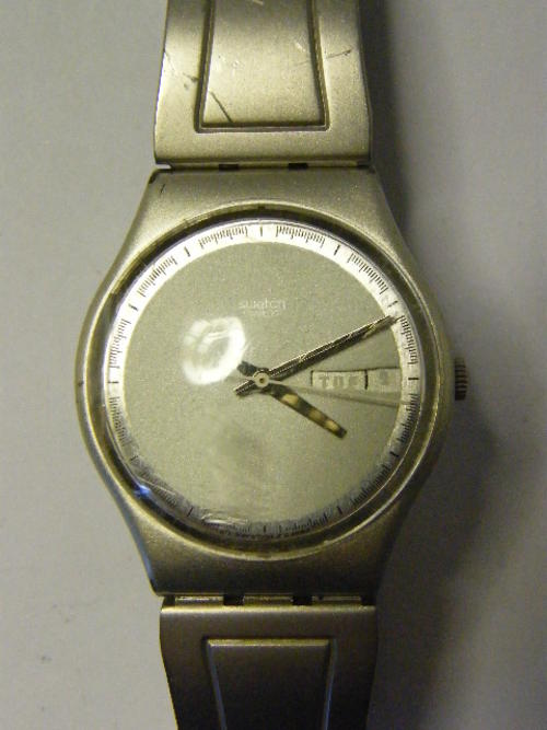 Menu0026#39;s Watches - Swatch ARMOUR CLAD Mens Watch - Minor Scratches - Working - ON SALE was listed ...