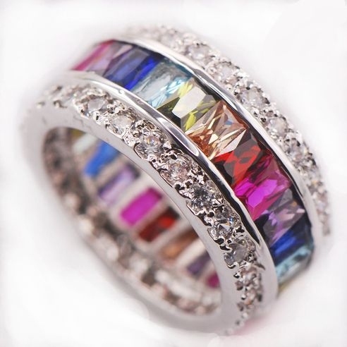 rings woaw stunning multi gemstone sterling