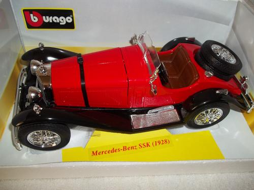 Cars trucks burago gold collection mercedes benz ssk for Mercedes benz ssk 1928 burago