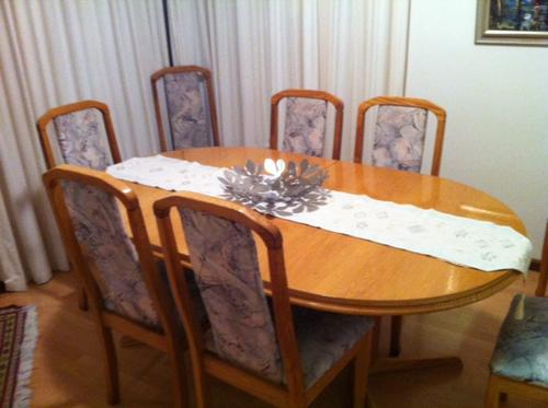 Tables 8 seater solid oak dining room set was listed for for Dining room sets under 500 00