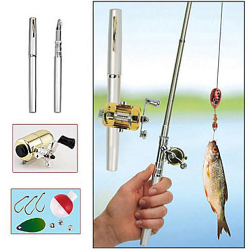 Other fishing small alloy telescopic collapses fishing for Small fishing pole