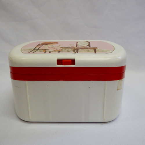 Dress-ups - Vintage childrens plastic vanity case with battery operated lights was listed for ...