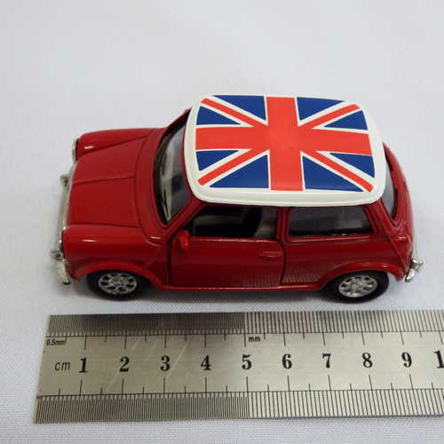 Mini Cooper Model Car With Union Jack