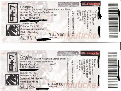 tickets coldplay