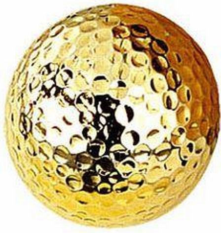 Solid Gold Golf Ball
