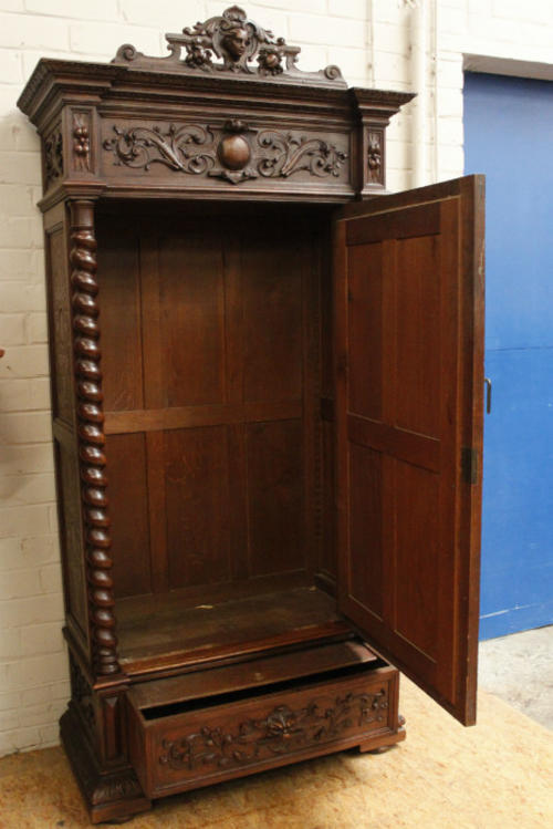 other furniture oak barley twist louis xiii armoire was. Black Bedroom Furniture Sets. Home Design Ideas