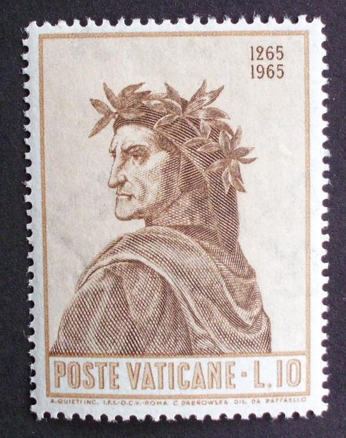 Stamp Vatican City 1965 Dante Was Listed For R75