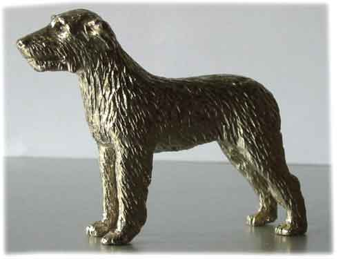 Metal - Silver Plated Dog model --Irish Wolfhound was ...