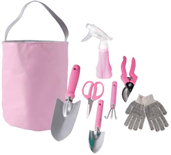 sets 7 piece pink ladies gardening tool set was sold for On ladies gardening tools
