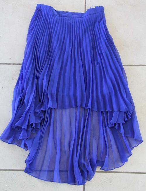 skirts pretty electric blue pleated waterfall skirt was