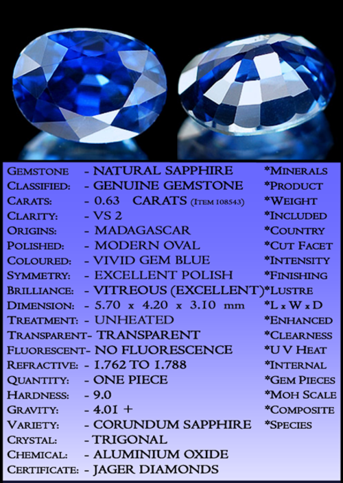 SAPPHIRE ~ CERTIFIABLE  INVESTMENT GEMS