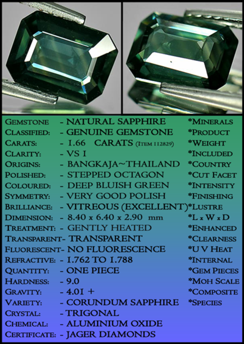 SAPPHIRE ~ COLLECTIBLE CERTIFIABLE  INVESTMENT GEMS