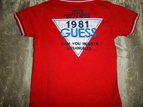 T shirts tops boys original guess t shirt red brand for T shirt manufacturers in durban