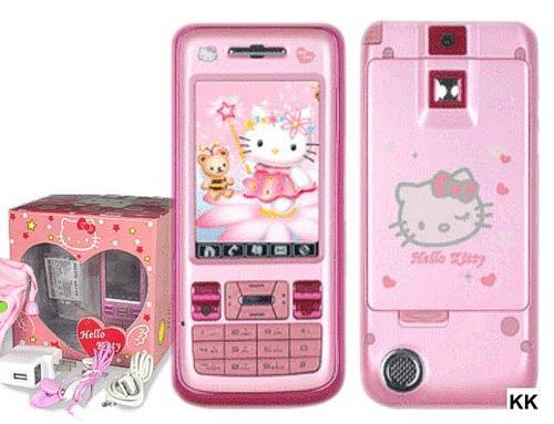 "KOPIKATT Hello Kitty Mobile Phone, 2.6"" LCD Touch Screen, 2MP Camera,"