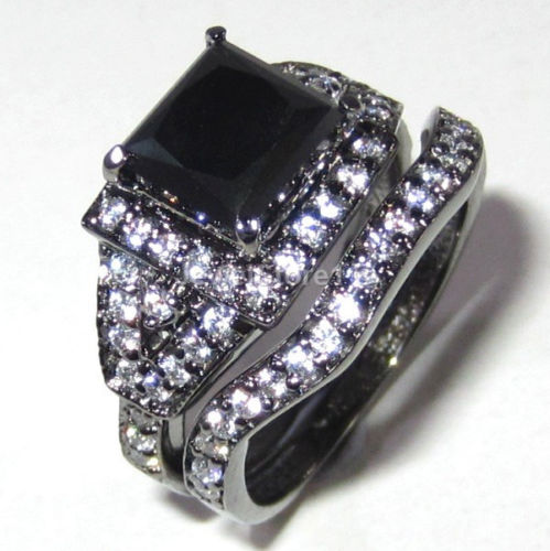 engagement rings 3 25 ct jet black moissanite 925
