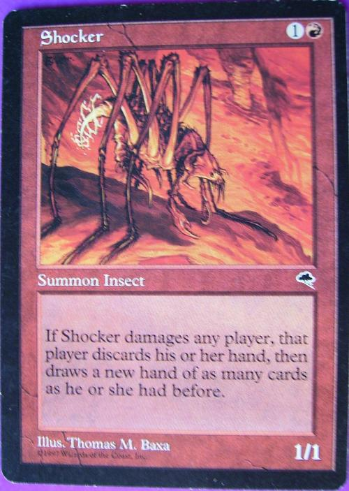 Trading Cards - Magic the Gathering Shocker card (Rare ... Rare Magic Cards