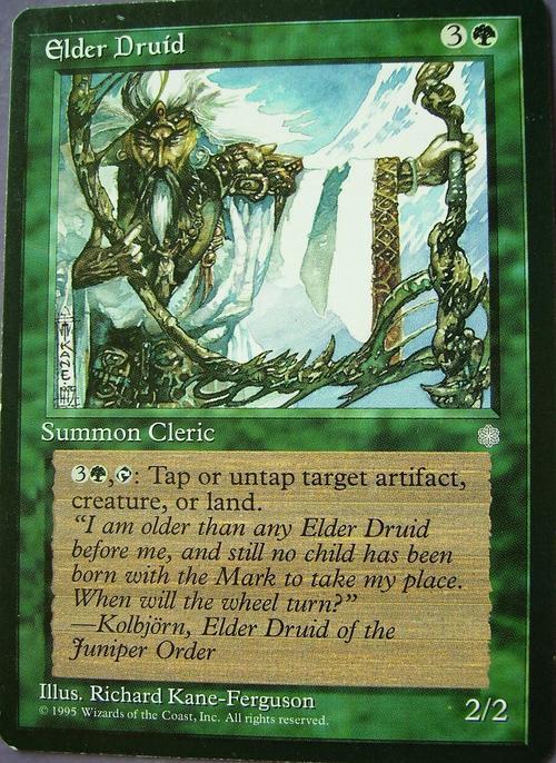 Trading Cards - Magic the GAthering Elder Druid (Rare) was ...