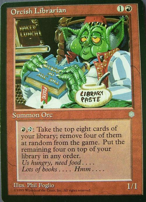 Trading Cards - Magic the Gathering Orcish Librarian (Rare ... Rare Magic Cards