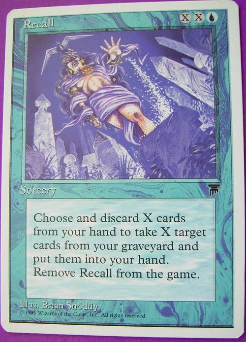 Trading Cards - Magic the Gathering Recall (Rare) for sale ...