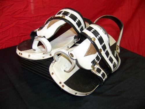 how to make leather sandal soles