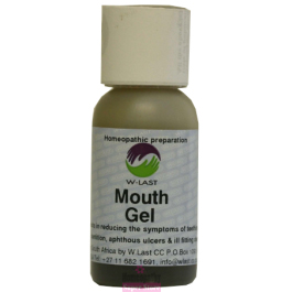 Natural Health Homeopathy Homeopathic Remedy Mouth Gel reduce teething painful dentition aphthous ulcers denture irritation