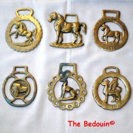 6 horse brasses