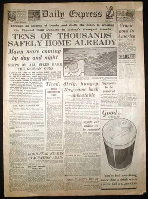 1940 newspaper articles