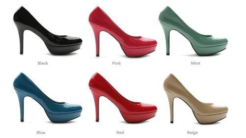 Shoes - BRAND NEW Ollio Womens Stilettos Pumps Enamel High Heels