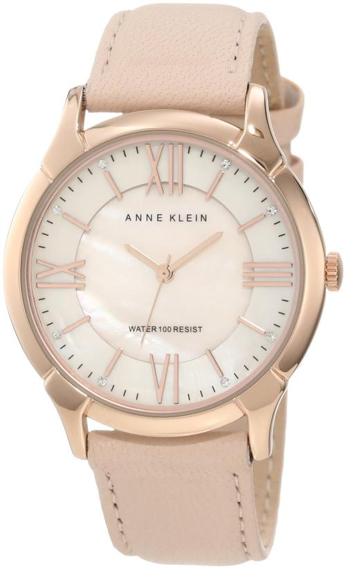 women 39 s watches anne klein women 39 s leather watch with swarovski crystal accented was sold for