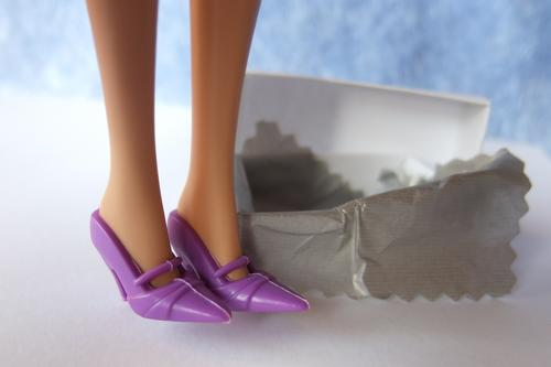 barbie purple shoes mary-jane chic doll toy
