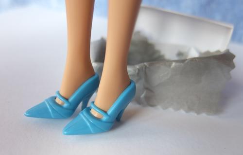 barbie blue maryjane shoes doll toy