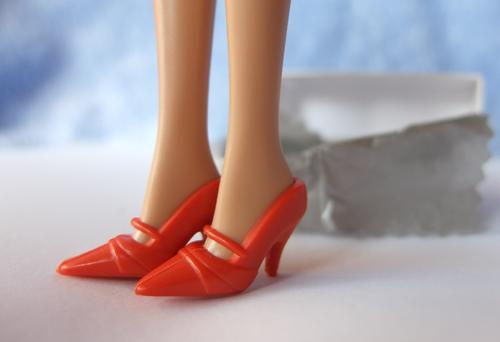 red mary-jane court shoes barbie doll toy