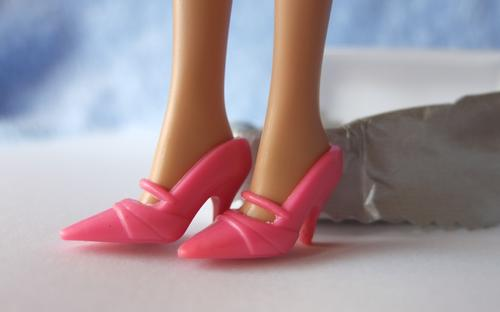 barbie pink mary-jane shoes
