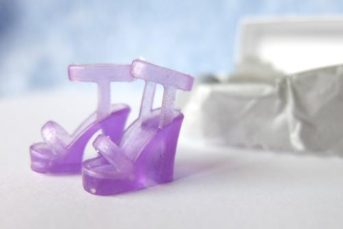 barbie purple shoe sandal party